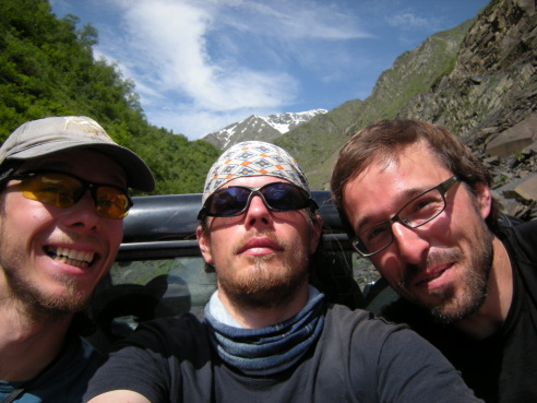 Crew. Zleva: Pája, Zdenál, Honzík