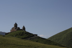 Klášter nad Kazbegi