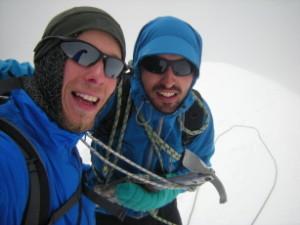 Honza s Pájou na vrcholu Kazbegu
