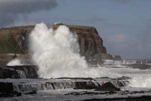 bouřlivé jižní pobřeží Jižního ostrova