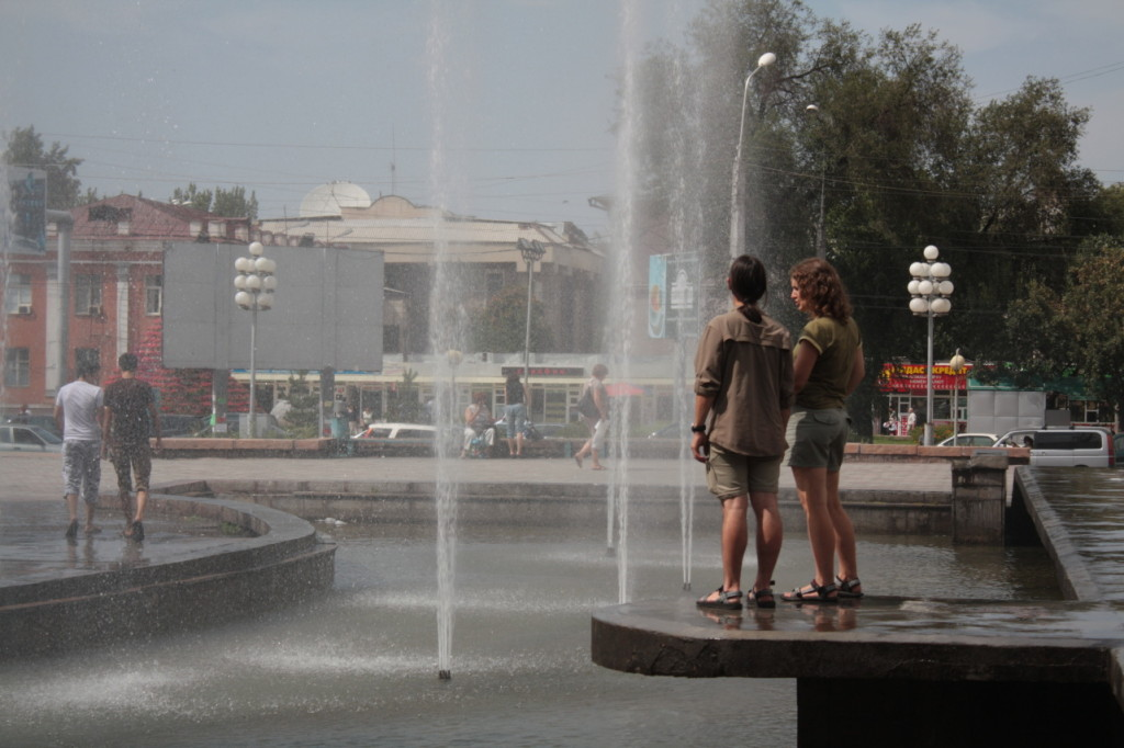 Osvěžení u fontány