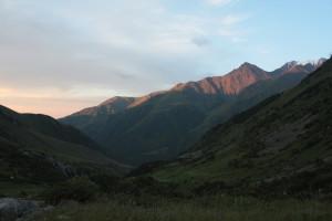 Pohled z Adygene na Ala-Arču