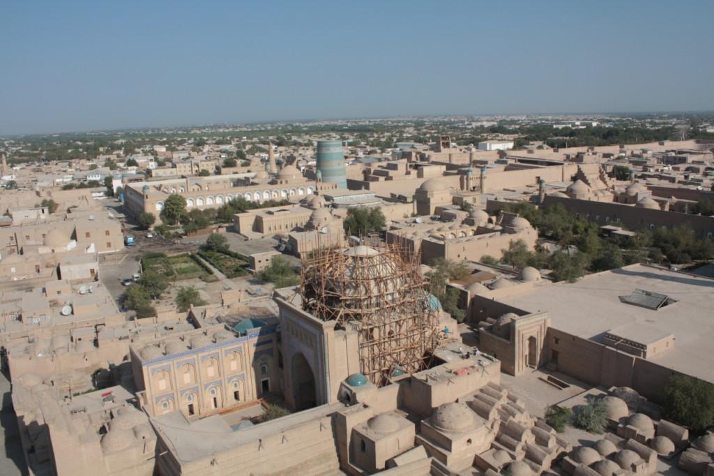 Chiva z nejvyššího minaretu