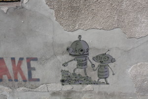 Česká stopa na bělehradské zdi - postavičky z Machinária