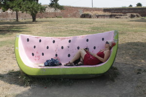 Melounová lavička