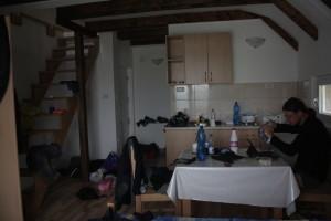 Apartmánek v Motičky Gaj a sušení věcí