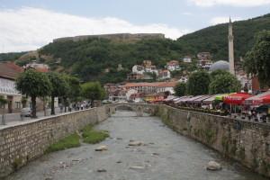 Nábřeží a pevnost v Prizrenu