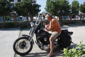 Rudi se svým Harleyem