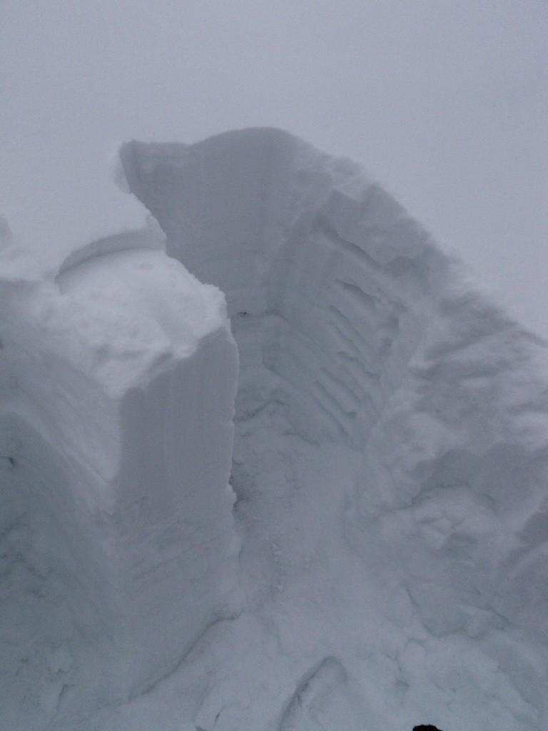 Kopání sněhové sondy