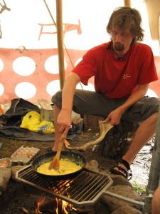 Míchaná vajíčka ke snídani