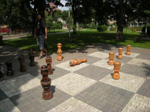Šachy při čekání v Sibiu