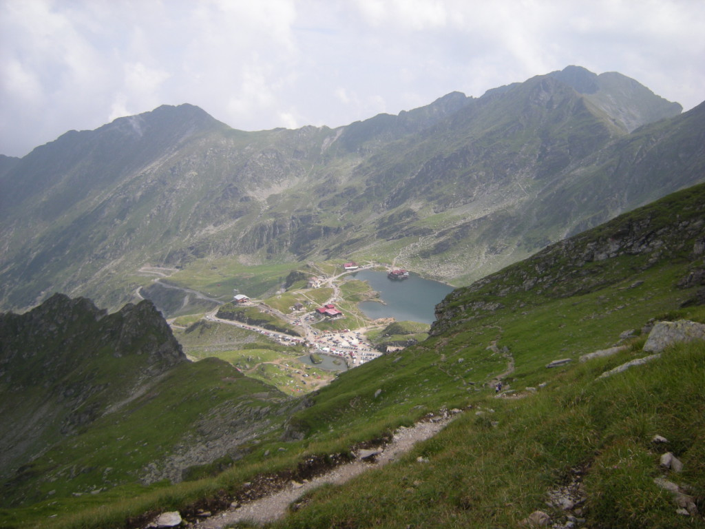Lacul Balea u Transfagarašské magistrály