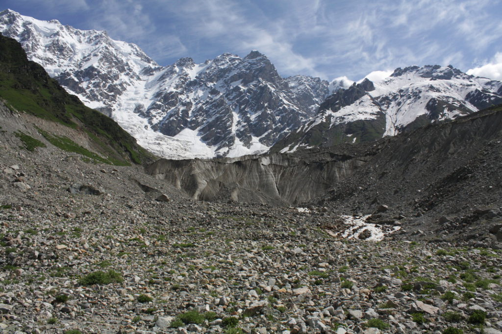 Velký Kavkaz - ledovec Shkhara