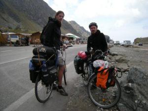 Stephan,cestovatel který dorazil za 45 dní z Berlína. Potkali jsme se na nejlepším místě,kde jsme mohli.