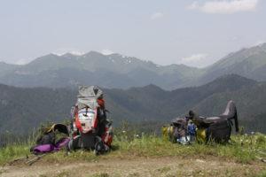 pohled na nejvyšší pasáž NP Borjomi - Sametskhvario